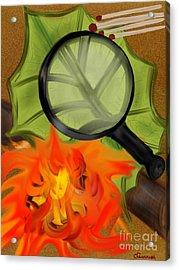 Fire Starter Acrylic Print by Christine Fournier