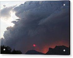 Fire Sunset Below Acrylic Print