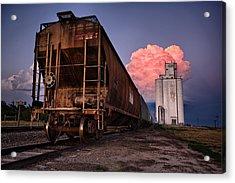 Fire Train Acrylic Print by Thomas Zimmerman