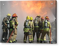 Fire Training  Acrylic Print by Steven Townsend