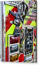 Fire Truck - Keep Back 300 Feet Acrylic Print by Paul Ward