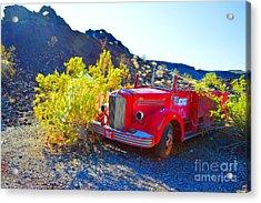 Fire Truck Parking Acrylic Print by Renie Rutten