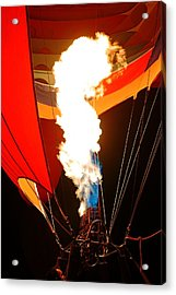 Fire Up The Night Acrylic Print by Daniel Woodrum