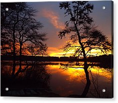 Acrylic Print featuring the photograph Sunrise Fire by Dianne Cowen