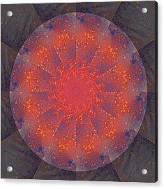 Fire Water Mandala Acrylic Print