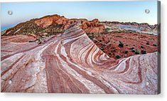 Fire Wave Nevada Acrylic Print by Pierre Leclerc Photography