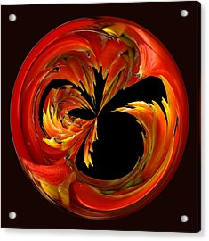 Fireball Orb Acrylic Print