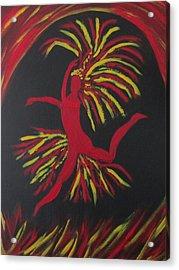Firebird Acrylic Print by Sharyn Winters