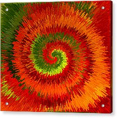 Acrylic Print featuring the photograph Fireburst Extrusion by Ellen Tully