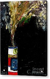 Firecracker Explodes. Bang Series No. 5 Roman Candle Acrylic Print