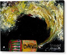 Firecracker Explodes. Bang Series No. 9 Bang Stick Acrylic Print