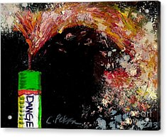 Firecracker Explodes. Danger. Bang Series No. 1 Acrylic Print
