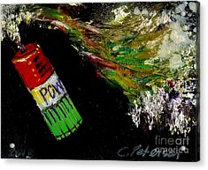 Firecracker Explodes. Pow. Bang Series No. 3 Acrylic Print