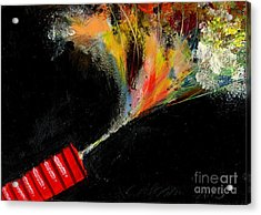 Firecracker Explodes. Red Stick. Bang Series No. 4 Acrylic Print