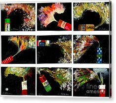 Firecrackers Explode. Bang Series. No. 1 Thru 9 Acrylic Print