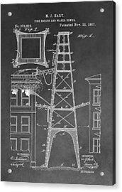 Firefighting Patent Acrylic Print