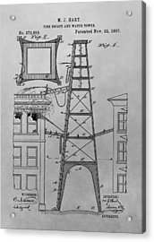 Firefighting Patent Drawing Acrylic Print