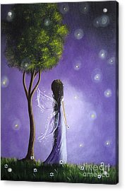 Original Fairy Art By Shawna Erback Acrylic Print by Shawna Erback