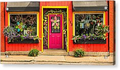 Acrylic Print featuring the photograph Firefly Floral Shop by Trey Foerster