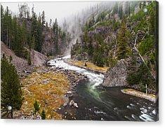 Firehole Canyon - Yellowstone Acrylic Print by Brian Harig