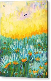 Acrylic Print featuring the painting Firelight by Holly Carmichael