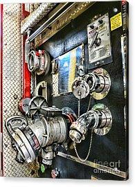 Fireman - Control Panel Acrylic Print by Paul Ward