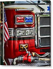 Fireman - Fire Engine Acrylic Print