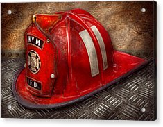 Fireman - Hat - A Childhood Dream Acrylic Print by Mike Savad