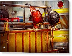 Fireman - Hat - Waiting For A Hero  Acrylic Print by Mike Savad