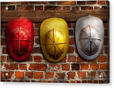 Fireman - Hats - Pick A Hat Any Hat  Acrylic Print by Mike Savad