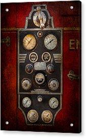 Fireman - Keep An Eye On The Pressure  Acrylic Print by Mike Savad