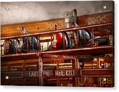 Fireman - Ladder Company 1 Acrylic Print by Mike Savad
