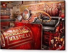 Fireman - Mastic Chemical Co Acrylic Print by Mike Savad