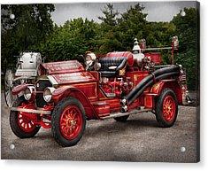 Fireman - Phoenix No2 Stroudsburg Pa 1923  Acrylic Print by Mike Savad
