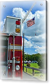 Fireman - Proudly They Serve Acrylic Print by Paul Ward