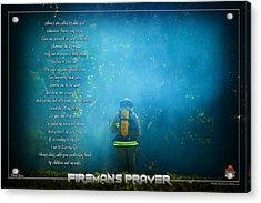Firemans Prayer Acrylic Print by Mitchell Brown