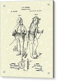 Fireman's Suits 1876 Patent Art Acrylic Print