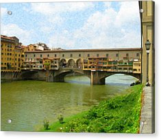 Firenze Bridge Itl2153 Acrylic Print