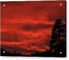 Firery Sky Acrylic Print by Debra Madonna