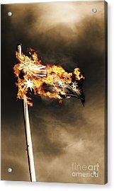 Fires Of Australian Oppression Acrylic Print by Jorgo Photography - Wall Art Gallery