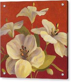 Fireside Flowers II Acrylic Print