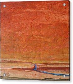 Fire Sky Acrylic Print by Dawn Vagts