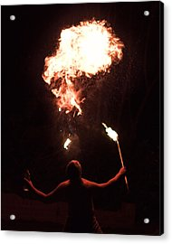 Firespitter Acrylic Print by Rick Starbuck
