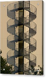 Firestairs Acrylic Print by Susanne Baumann
