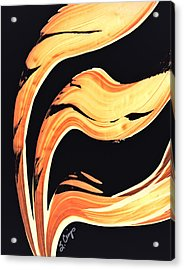 Firewater 6 - Warm Modern Art By Sharon Cummings Acrylic Print by Sharon Cummings
