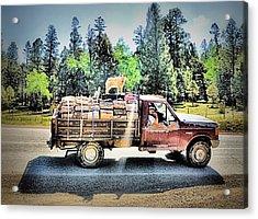 Firewood Gathering Acrylic Print