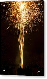 Acrylic Print featuring the photograph Firework Display by David Isaacson