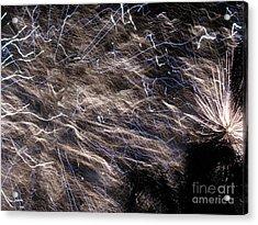 Firework - Feu D'artifice - Ile De La Reunion - Reunion Island - Indian Ocean Acrylic Print by Francoise Leandre