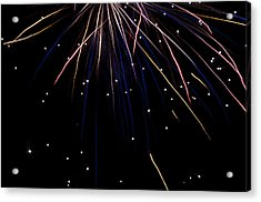 Acrylic Print featuring the photograph Firework Rain by David Isaacson
