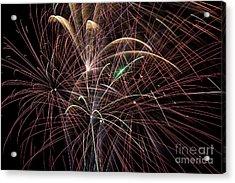 Firework Trails Acrylic Print by Jason Meyer